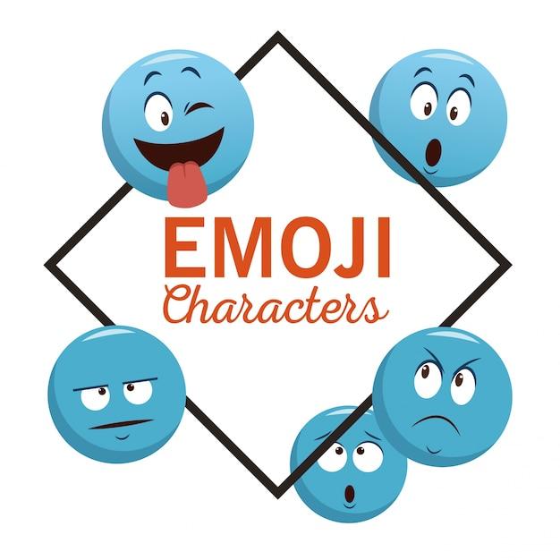 Emoji chat characters Vector | Premium Download