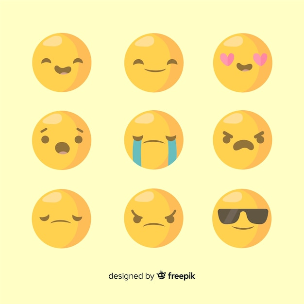 Emoji collection Free Vector