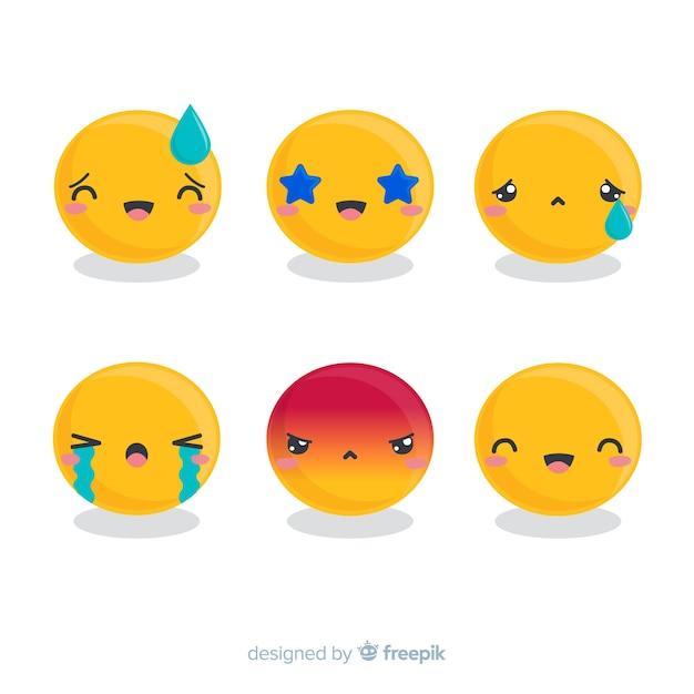 Emoji collection Free Vector