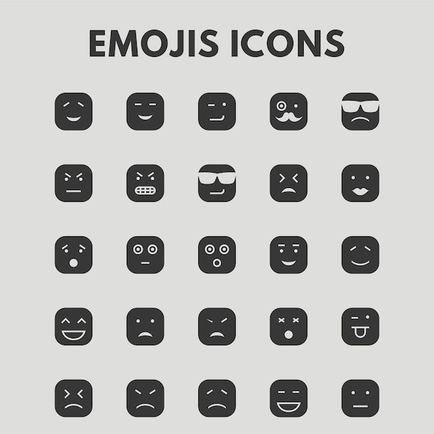 Emoji icons Vector | Free Download