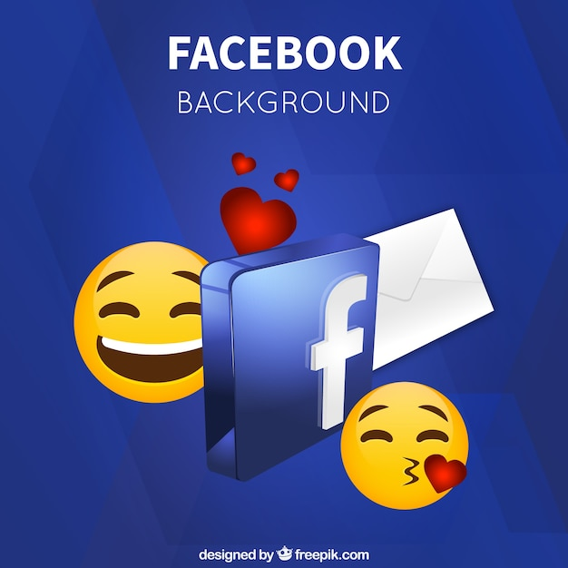 Emoticon Background And Facebook Symbol Vector Free Download