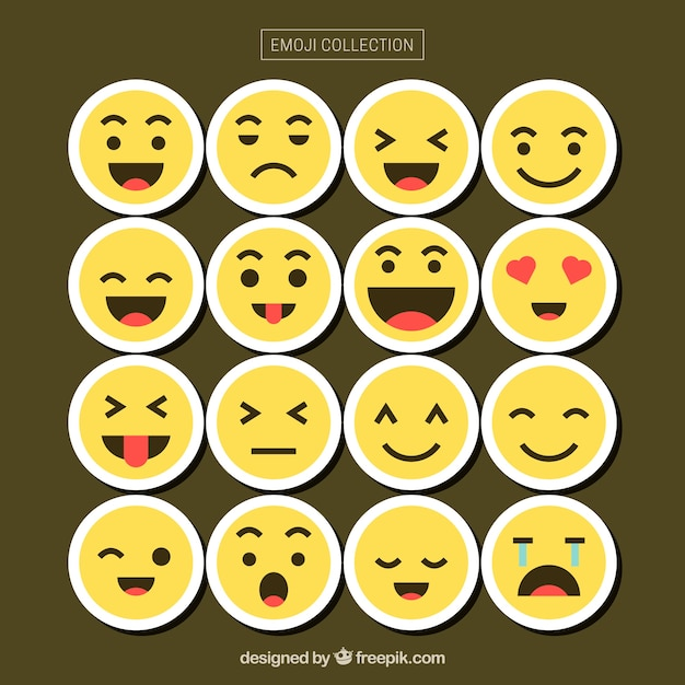 Free Vector Emoticon Collection With Different Faces