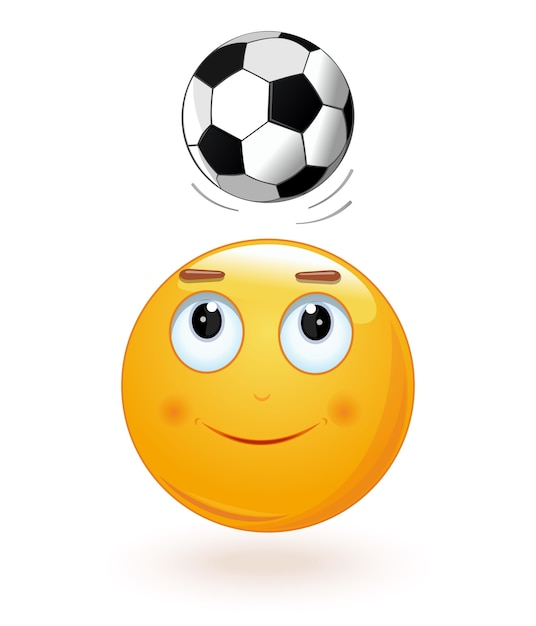 emoticon-face-bumping-soccer-ball-on-its