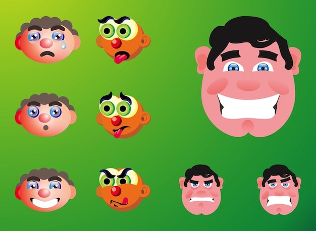 Emotion angry cartoons boy vector