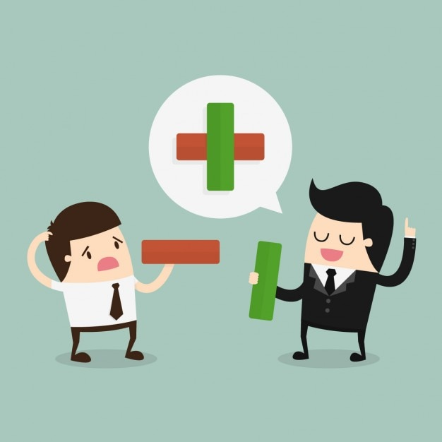 Employee and boss speaking Free Vector