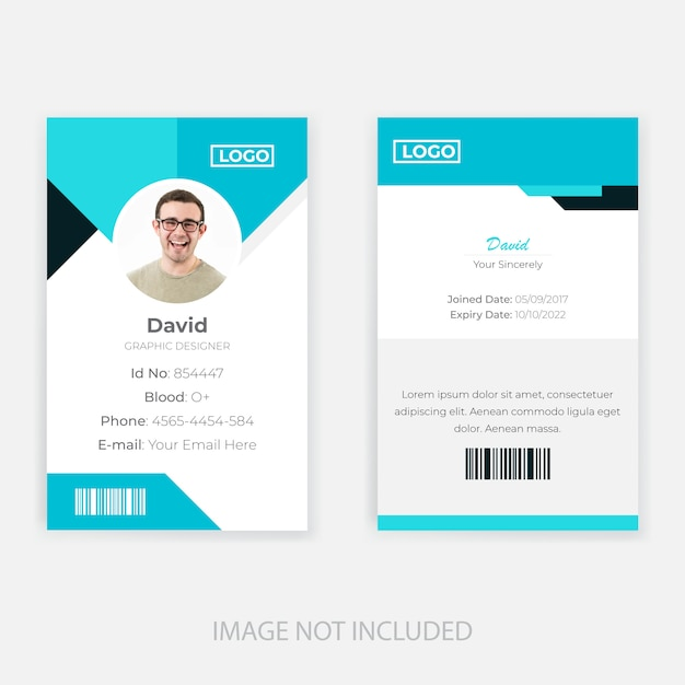 Employee Id Card Template Design Vector