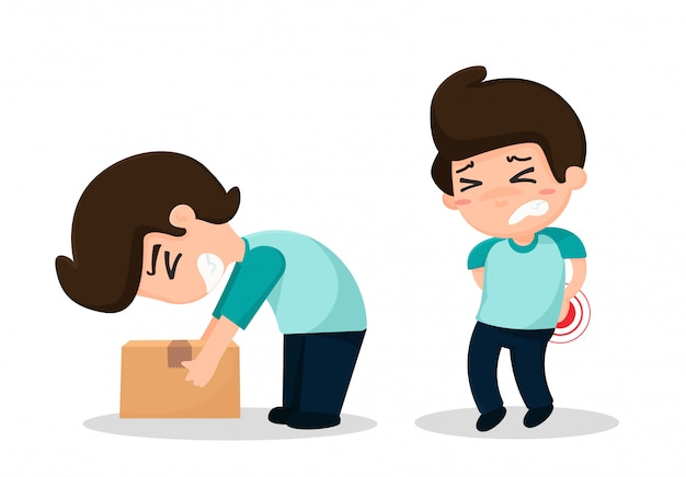 Employees have accidents from work Premium Vector