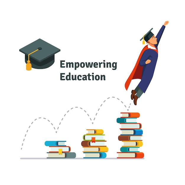 empowering education Free Vector