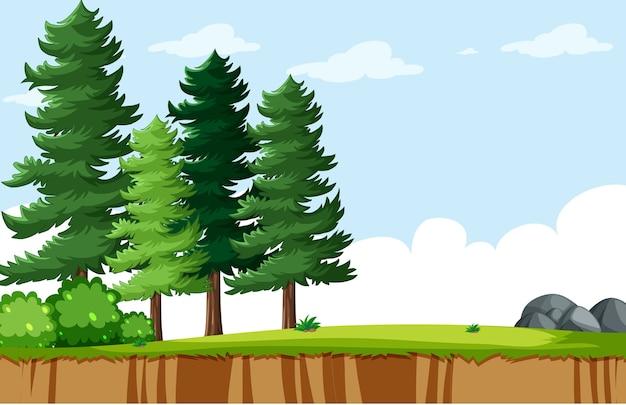 空の背景自然公園の風景 無料ベクター
