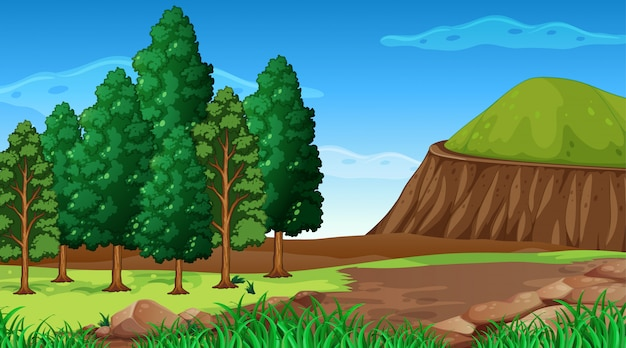 Empty background nature scenery Free Vector