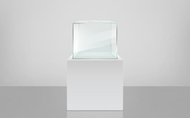 Empty ballot box on pedestal realistic vector Free Vector