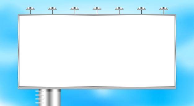 Empty billboard big on sky copy space Premium Vector