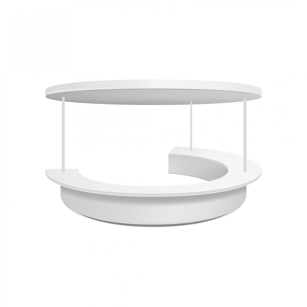 Empty blank retail stand. illustration isolated. graphic concept for your design Premium Vector
