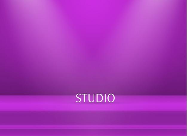 空の明るい色のスタジオテーブルの背景 Premiumベクター