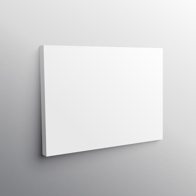 Empty Canvas Mockup Vector Free Download