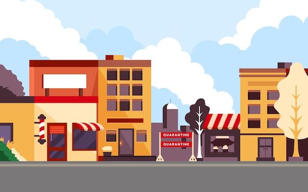 Концепция пандемии пустого города Бесплатные векторы