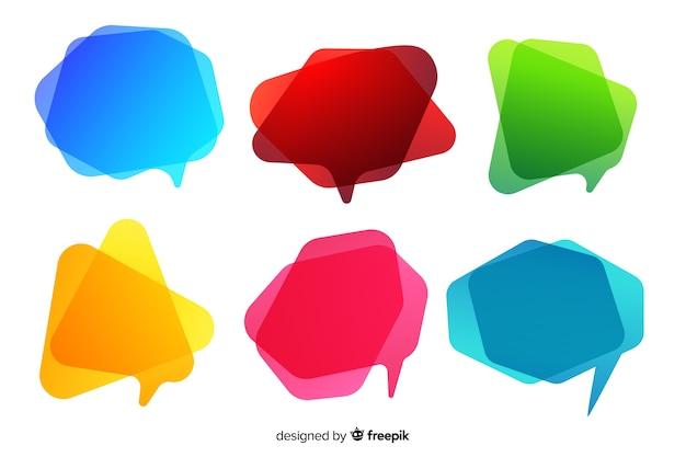Коллекция пустых красочных градиента речи пузырь Бесплатные векторы