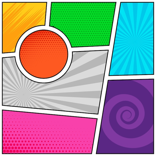 Empty Comic Book Pages Background Template Design Vector  Free Download