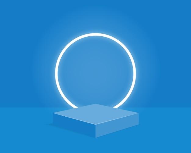 Пустой цилиндр подиума. дизайн для презентации продукта. Premium векторы
