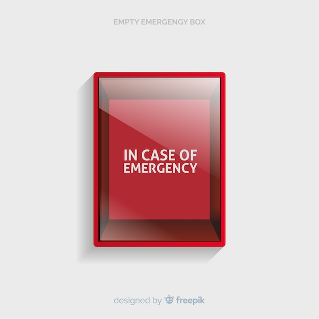 Empty emergency box concept Free Vector