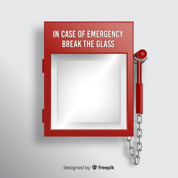 Empty emergency box concept Free Vector