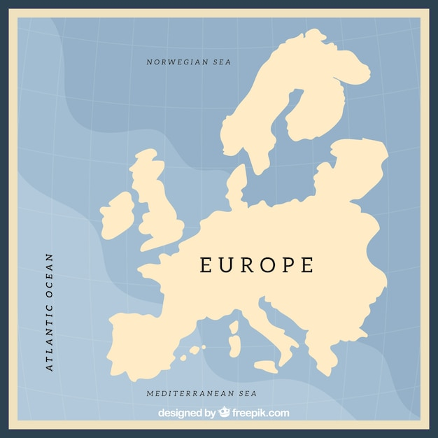 Empty Europe Map Design Vector Free Download