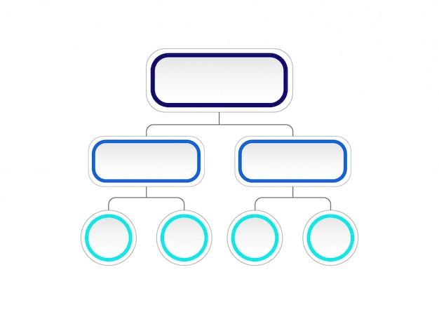 Empty flowchart diagram. infographic template with 3d paper label, integrated circles. business concept with options. Premium Vector