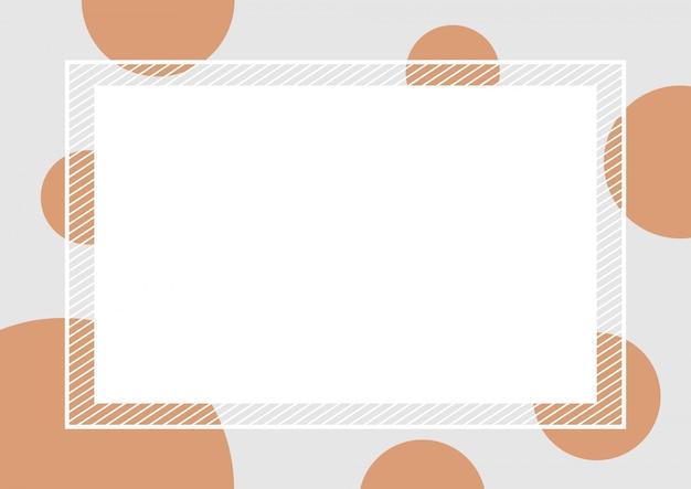 Empty  frame polka dot brown Premium Vector
