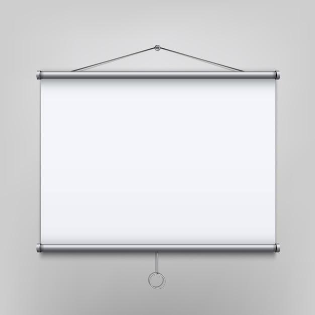 Empty meeting projector screen Premium Vector