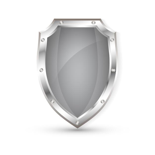 빈 금속 실드, 보호 실드 프리미엄 벡터