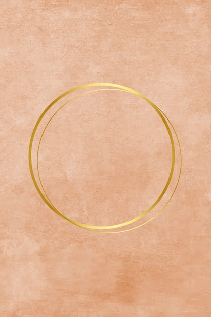 Empty metallic circle in paint Free Vector