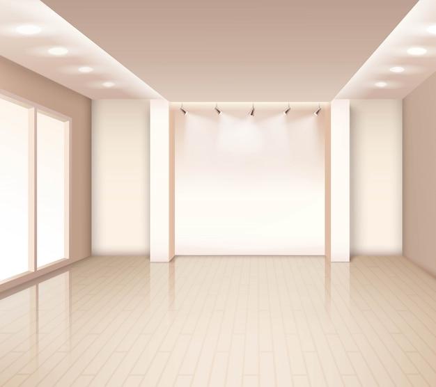 Empty modern room interior Free Vector