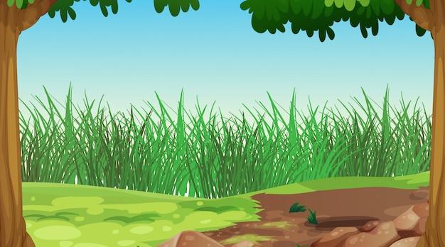 空の自然の風景 無料ベクター