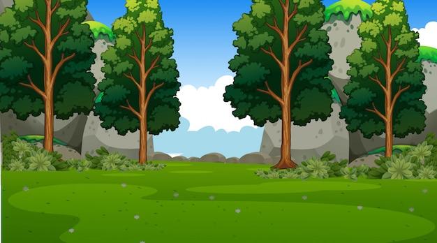 Empty  nature scenery Free Vector