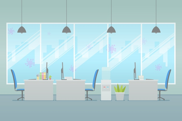 Empty office concept Free Vector