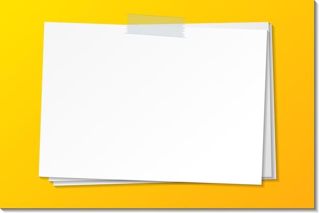 Пустой шаблон бумажной заметки придерживается ленты Premium векторы