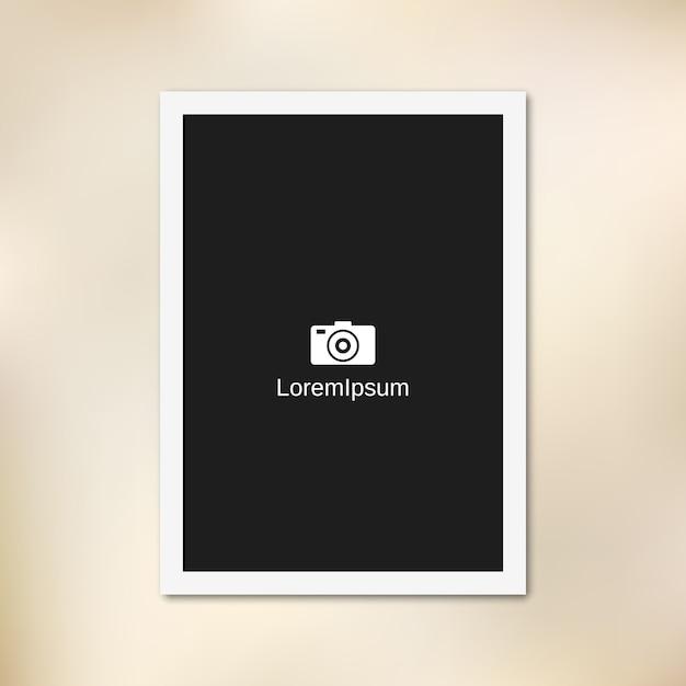 Empty paper photo frame Premium Vector