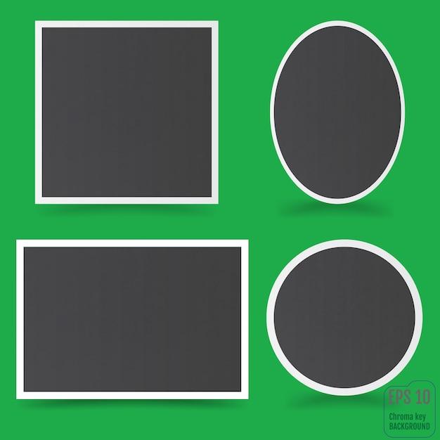 Empty photo frame. Premium Vector