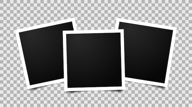 Empty photo frames Premium Vector