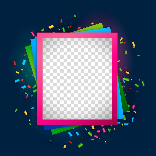 Empty picture frame for birthday celebration Vector | Free Download