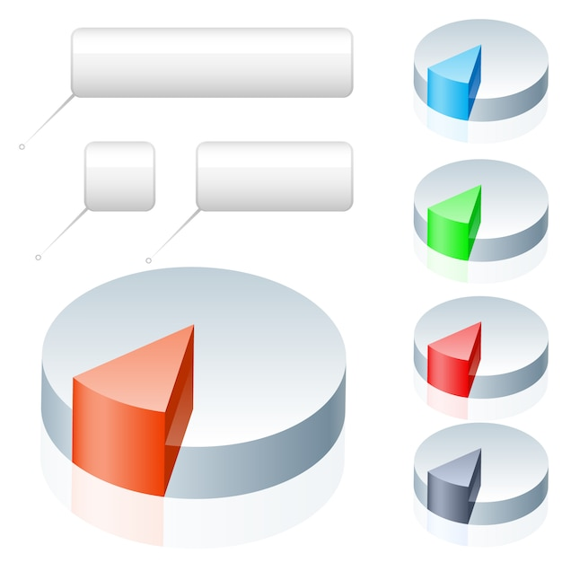 Empty pie chart infographics Premium Vector