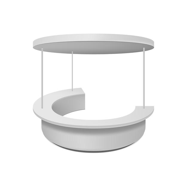 Пустой торговый стенд. иллюстрация изолирована на белом фоне. Premium векторы