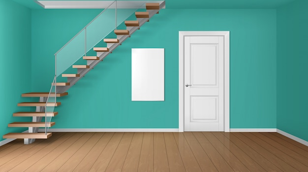 empty-room-with-staircase-white-closed-door_107791-1256.jpg (626×350)
