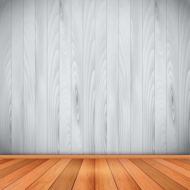 Free Vector Empty Room With Wooden Floor And Wall