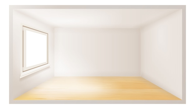 Empty room Premium Vector