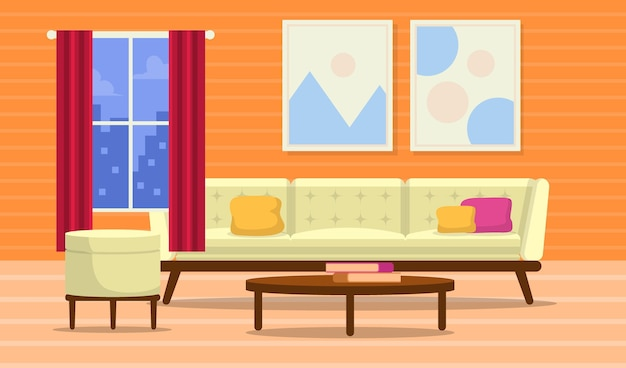 Empty school class background for video conferencing Premium Vector
