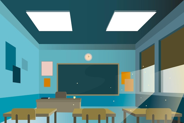 Empty school class conference background Free Vector