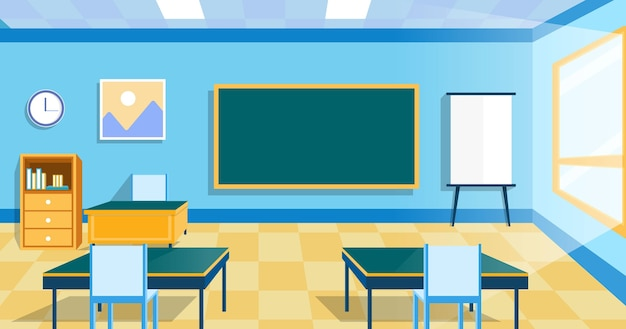Empty school class wallpaper for video conferencing Premium Vector