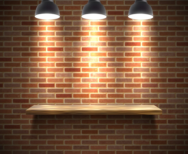 Empty shelf illustration Free Vector