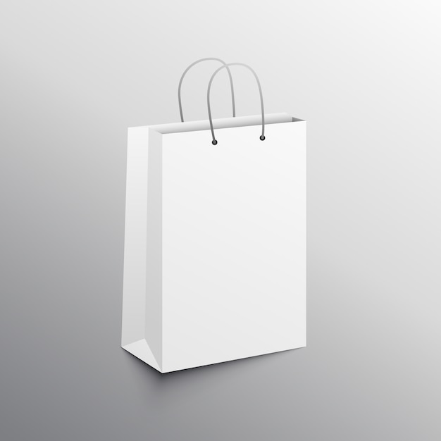 Empty shopping bag mockup Vector | Free Download